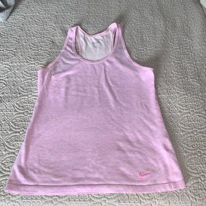 Nike dry fit pink tank top small size